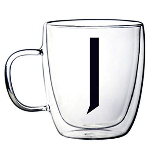 Verres Tasse À Café Double Verre Résistant À La Chaleur Tasse Créative (Color : J, Size : 9.4 * 11.9cm)