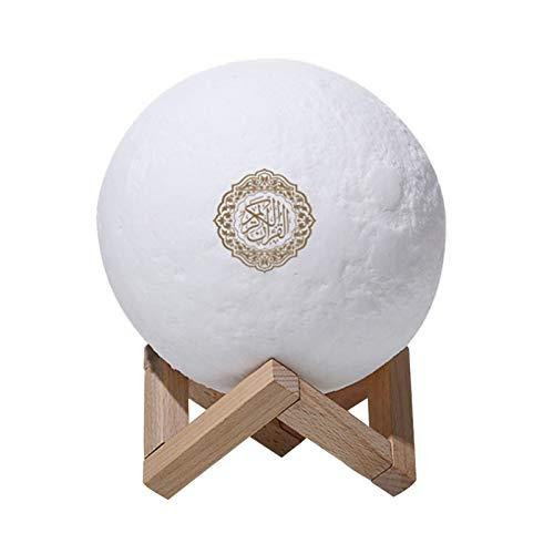 Jingtaihua Luces de Luna táctil Quran 3D, Nueva luz de Noche LED de 7 Colores, Altavoces Bluetooth Quran Control Remoto Lámpara de Luna pequeña Lámpara LED inalámbrica