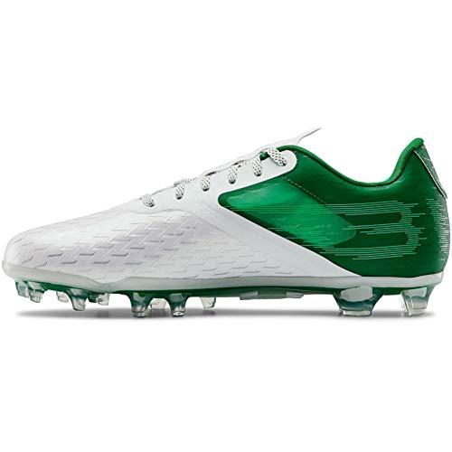 Under Armour Men's Blur Lux MC Football Shoe, Classic Green (300)/White, 15
