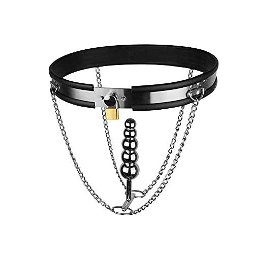 US-DXB Slip en métal pour Femmes verrouillant Le Dispositif de chastit++y