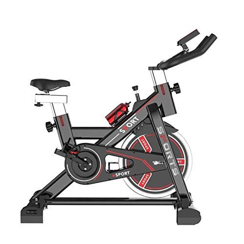 DJDLLZY Bicicleta estática estacionaria 350 libras Capacidad de peso - Bicicleta de ciclismo interior con cómodo cojín de asiento, soporte para tableta y monitor LCD