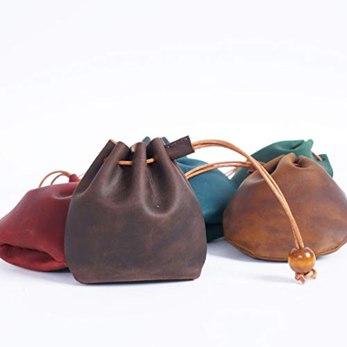 TOYANDONA Leather Coin Bag Change Purse Mini Gift Bags Jewelry Pouches Drawstring Pouch for Girls Women Ring Necklace Money Key