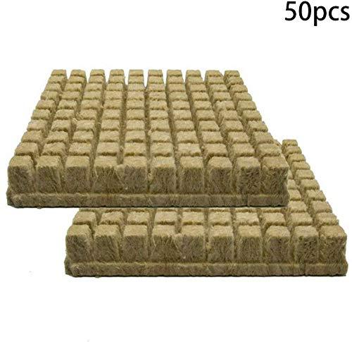 Fayeille Rock Laine Cubes, Hydroponique Grow Laine de Roche Cubes Soilless Culture Compresse Base 25x25x40mm