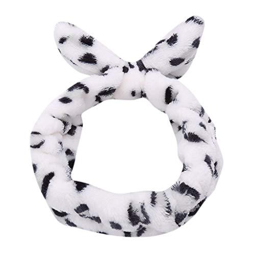 COZOCO 2019 Einfaches und nützliches Stirnband Frauen-Damen-elastisches Haarband-Band-Bogen-Knoten-netter Kopf-reizende Haar-Zusätze A Freie Größe