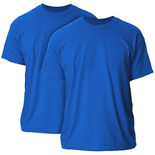 Gildan Men's Heavy Cotton Adult T-Shirt, 2-Pack, Royal, Medium