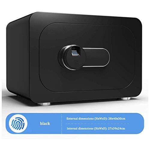 YLJYJ Sicherheit, Schlüssel Electronic Safe Stahlkonstruktion Bürohaushalt Klein - Mehrfarbig - 40X30X28cm -Elektronischer Safe Safebox (Farbe: Schwarz)