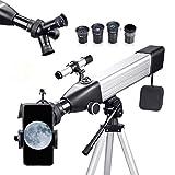 Telescopio Astronómico Profesional para Adultos, 167X 500/60mm Incluye Adaptador Móvil, Funda, Trípode