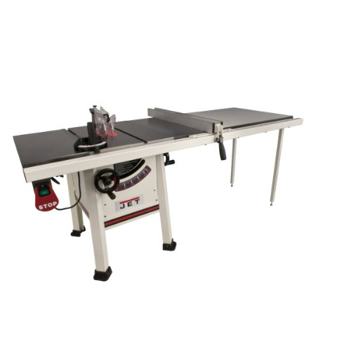 Jet 708495K JPS-10TS, 10-inch Proshop Tablesaw with 52-inch Fence, Cast Iron Wings...