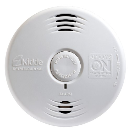 Kidde P3010B Worry-Free Bedroom Photoelectric Smoke Alarm with Voice Alarm and 10 Year Sealed Battery