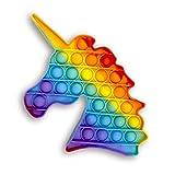 Droquimur Juguete Antiestrés   Pop It Sensorial   Explotar Burbujas   Unicornio   Arcoiris Multicolor