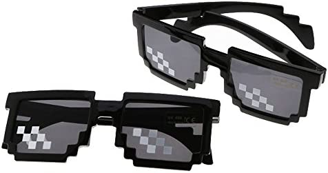 HAPPYX Mosaic Glasses Deal With It 8 Bit Pixel MLG Shades Unisex Sunglasses Toy