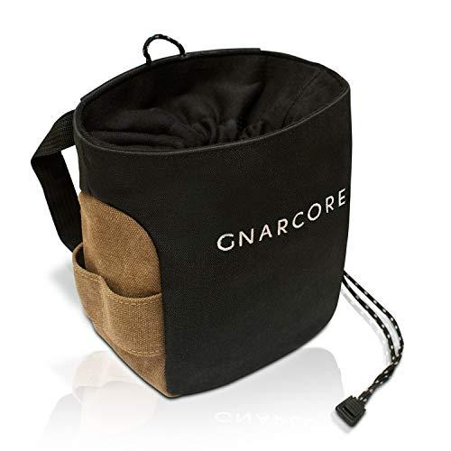 GnarCore Chalk Bag | professioneller Magnesiumbeutel z. Bouldern u. Klettern | Kalktasche f. Gewichtheber | staubdichtes Nylon-Verschlusssystem