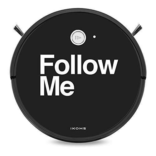 IKOHS NETBOT S15 - Saugroboter,Selbstaufladender Roboterstaubsauger für Hartböden, ideal für Teppiche, Rückkehr zur Ladestation, Kompatibel Alexa und Google Home (Netbot S15 / Follow Me)