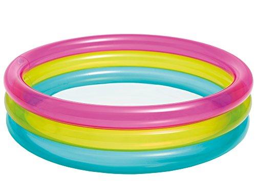 Intex- Piscina, Color Rosa/Amarillo/Azul, 57104