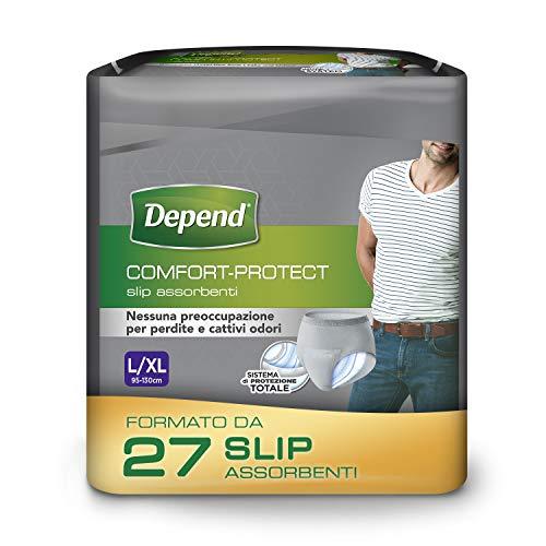 Depend Comfort-Protect Slip Assorbenti Uomo, Taglia L XL, 27 Slip