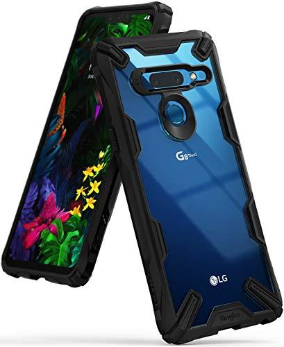 Ringke Fusion-X Compatibile con Custodia LG G8 ThinQ, Ergonomico [Difesa Militare Testata] Posteriore in PC Bumper in TPU Cover Protezione Paraurti Trasparente Custodia Cover LG G8 ThinQ - Black Nero