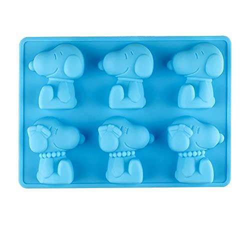 Beans6 Molde de silicona para tartas, 6 cavidades, molde de silicona, moldes antiadherentes de silicona para pudín de chocolate, dulces, gelatina, cubitos de hielo, decoración de tartas