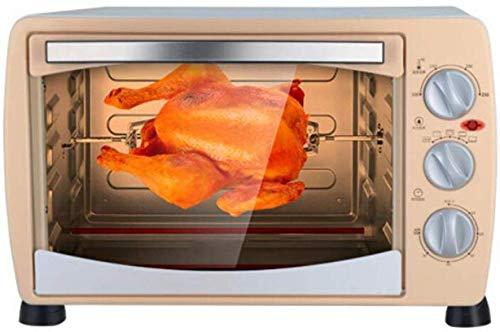 GJJSZ-Mini-Backofen,1 Küchen-Mini-Backofen,360 Grad,drehbare Gabel und geformte Würfeleinlage,8 l,Grillfunktion,einschließlich Backblechgrill,1400 Kochleistung,Edelstahl