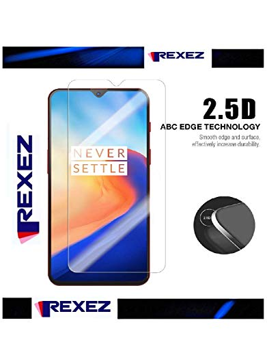 Rexez OnePlus 7 Tempered Glass Screen Protector with Installation Kit for OnePlus 7 by Rexez