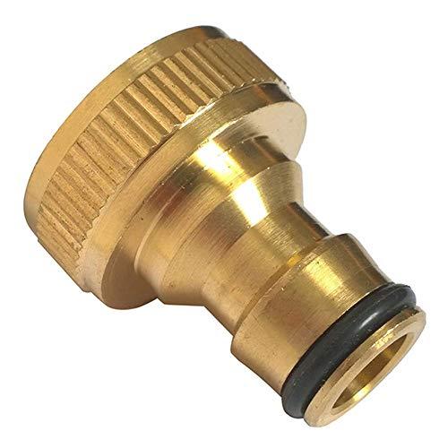 Vektenxi adaptador de grifo de latón roscado de 3/4 pulgadas para manguera de agua de jardín, conector rápido de alta calidad