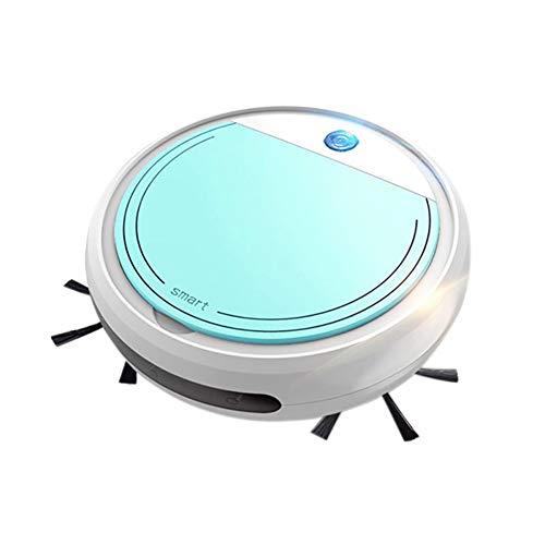 LJJLJJ Robot Aspirador, Barrido Y Fregado, Robot Aspirador Y Fregasuelos, Potente AspiracióN De 1200 Pa, para De Mascotas Y Todo Tipo De Suelos,Azul