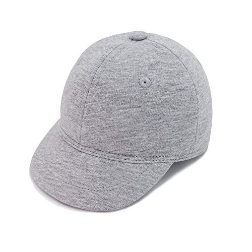 Keepersheep Baby Baseball Cap Infant Sun Hat, Infant Toddler Kids Baseball Cap (0-3 Months, Light Gray)