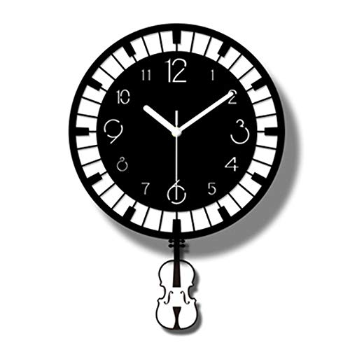XSZ Modern Design Large Silent Creative Wall Clock Battery Operated for Kitchen Office Living Room Bedroom Decorative (11.8X 16.9 WxL)