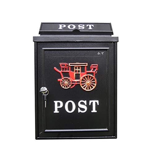JXXDDQ Wandmontage Postfach Garten Dekor Mailbox Post Diebstahlschutz-Briefkasten (Farbe : A)