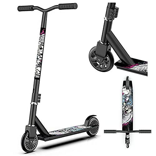 Stunt sparkcykel, stadsskoter för vuxna - Trick sparkcykel - Trick sparkcykel med ABEC 7 kullager, stunt skoter för nybörjare pojkar flickor tonåringar vuxna