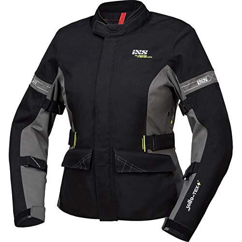 IXS Motorradjacke mit Protektoren Motorrad Jacke Laminat-ST-Plus Damen Textiljacke schwarz/grau L, Tourer, Ganzjährig, Polyamid