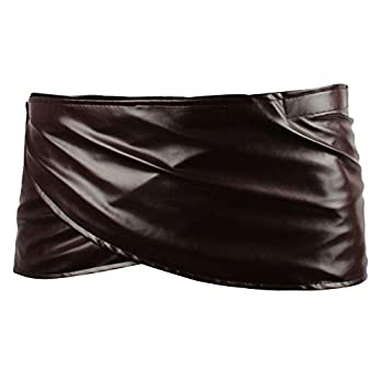 Angelaicos Unisex Short Faux Leather Brown Miniskirts  L