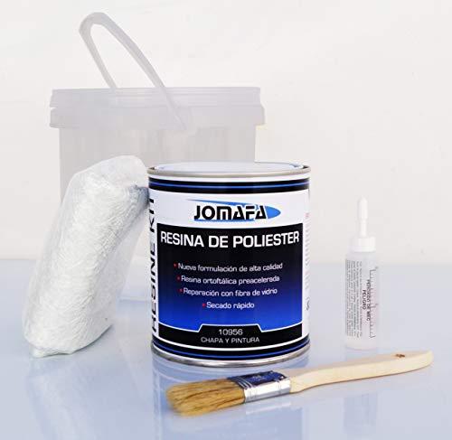 JOMAFA - Kit de fibra de vidrio con poliester 1 litro +...