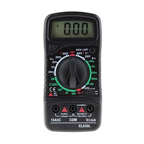 Multímetro digital, Multímetro digital EMSER TESTERS DE MEDIDOR DE ESR Automotriz eléctrico DMM Transistor Tester Peak Tester Meter para bricolaje (Color : Black)