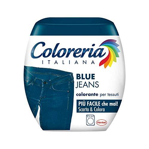Coloreria Italiana Grey Colorante Tessuti e Vestiti in Lavatrice, colorante colore Jeans, 1 Confezione, 350g