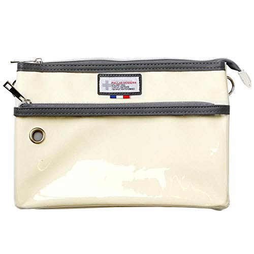 (アトリエ 365) atelier365 クリアPVCポケット カジュアルサコッシュ バッグ ソーラーモバイルバッテリー収納対応 2way/oth-ux-bag-1808-8244-white