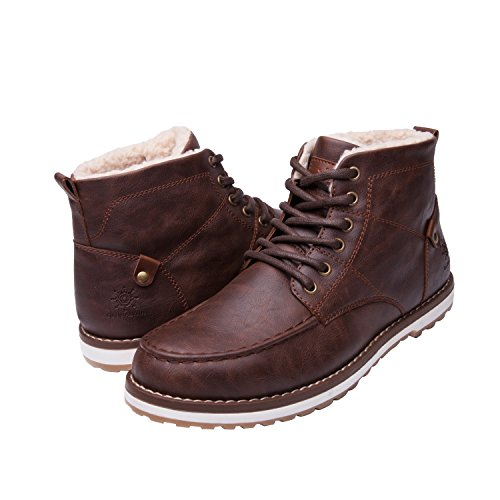 GLOBALWIN Mens 16402 Dk Brown Classic Lace Up Winter Water Resistnat Chukka Boots 10M