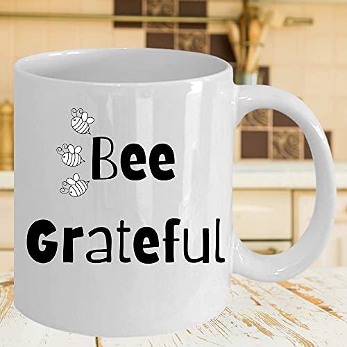 N\A Taza de café con Abeja Taza Taza agradecida de Abeja Idea de Regalo