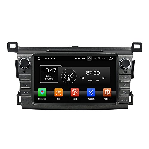 Kunfine Android 9.0 Octa Core Car DVD GPS Navigation Multimedia Player Car Stereo for Toyota Yaris 2013 2014 2015 Autoradio Volante Control with 3G WiFi Bluetooth Free SD Map