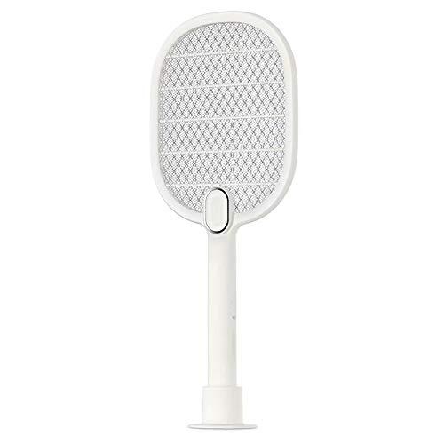 Big Bargain Store Rappeur de moustiques Convient pour Les Voyages en Camping et en extérieur Tueur de moustiques de Raquette éclairage LED Rechargeable USB Protection de sécurité en Maille Double