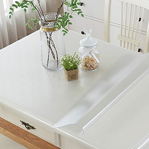 Mantel Protector Mesa Cristal, Suave e Inodoro Se Puede Personalizar Con Plástico De Vinilo De 1,0 Mm De Espesor, Hule Transparente para Muebles De Cocina Piso Etc ( Color : Claro , Size : 1.4X0.8M )