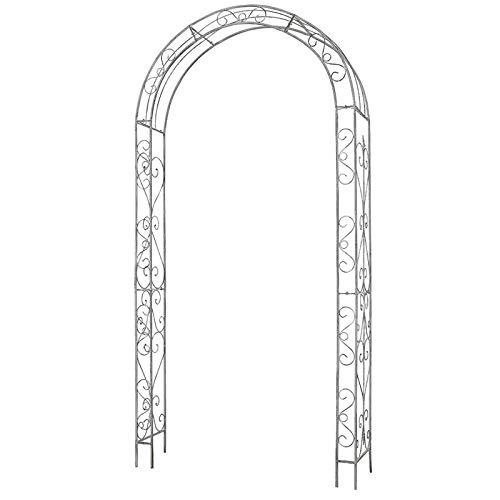 S-AIM Arco de jardín de Metal, Arco de cenador para Plantas trepadoras, Enredaderas de Rosas, jardín al Aire Libre, Patio Trasero, Hierro Revestido en Polvo