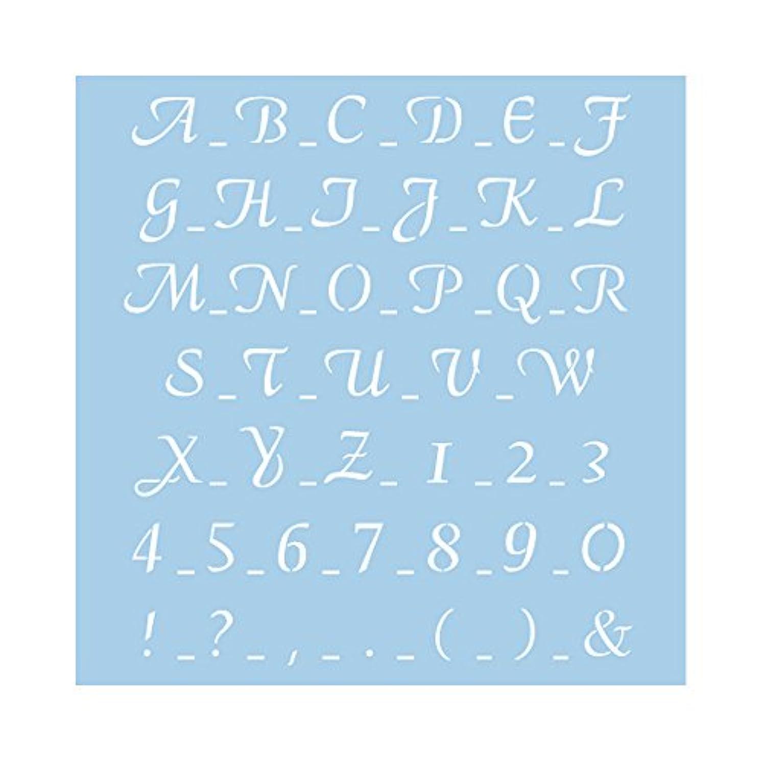Rayher Stencil Classical Scripture 2 Tab Bag, Plastic, Multi-Colour, 30 x 30 cm