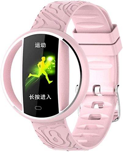 JSL Reloj inteligente de 1 pulgadas de color de la pantalla del sueño monitoreo de fitness tracker IP67 impermeable-Rosa