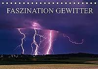 Faszination Gewitter (Tischkalender 2022 DIN A5 quer): Dunkle Gewitterwolken in beeindruckenden Formationen, zackige Blitze - Schoenheit und Gefahr liegen hier dicht nebeneinander. Lassen Sie sich faszinieren von imposanten Gewitterfotografien aus Sueddeutschland. (Monatskalender, 14 Seiten )
