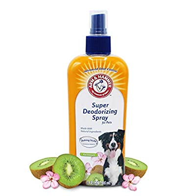 Arm & Hammer Super Deodorizing Spray for Dogs | Best Odor Eliminating Spray for All Dogs & Puppies, Kiwi Blossom Scent,8 Ounces
