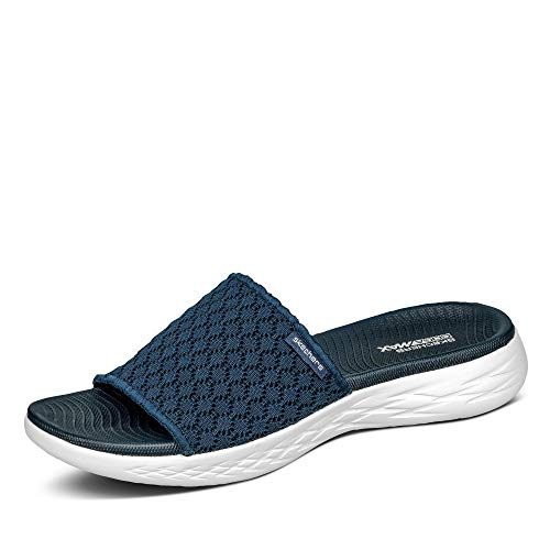 Skechers Damen On-The-go 600-Stellar Sandalen, Marineblau Weiß, 36 EU