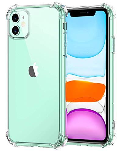 Suhctup Schutzhülle für iPhone 12, TPU, weich, Silikon, transparent, stoßfest, vier verstärkte Ecken, ultradünn, Tiermotiv, durchsichtig