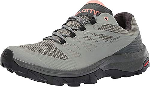 Salomon Women's Outline GTX Hiking Shoes, SHADOW/Urban Chic/Coral Almond, 8