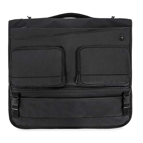 SWISSGEAR Full-Sized Folding Garment Bag | Carry-On Travel Luggage | Men's and Women's - Black