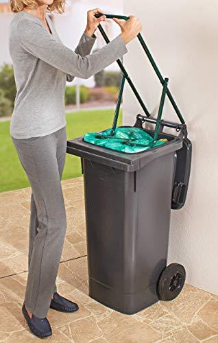 Dekoleidenschaft Müllpresse aus Metall, universal geeignet für Papiertonne, Abfalltonne, Restmülltonne, Biotonne, Müllverdichter